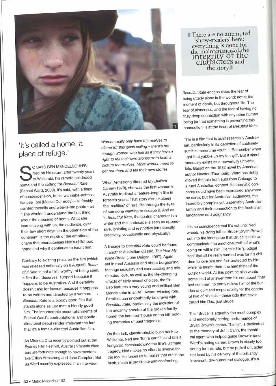 Metro Mag_Kate Article_SM_Page 1